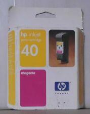 ORIGINALE HP 40 inchiostro 51640me per Deskjet 1200c 1600 MAGENTA OVP