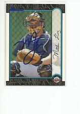 MATT LeCROY Autographed Signed 1999 Bowman card Minnesota Twins COA
