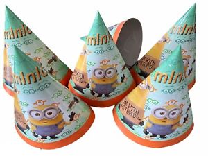 MINIONS DEPICABLE ME PARTY HATS PACK OF 20