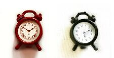 Alarm Clock Black or Red Dollhouse Bedroom Miniature 1:12 US SHIP