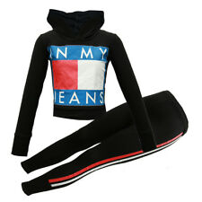 GIRLS KIDS IN MY JEAN TRACKSUIT HOODED SETS LOUNGWEAR AGE 13 YEARS JOGGING