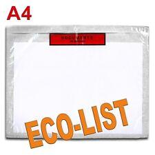 "100 Pochettes ""Documents ci-inclus"" ECO-LIST A4"