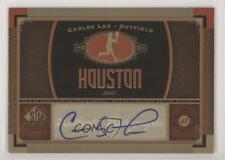 2012 SP Signature Collection Carlos Lee #HOU3 Auto