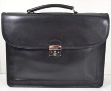 Longchamp Le Foulonne Single Gusset Men's Black Leather Briefcase