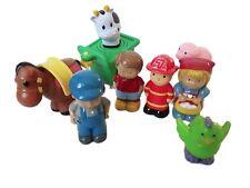 Farm Animals Figures Toy Bundle Fireman Horse and Carraige