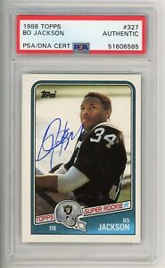 1988 Topps #327 Signed Bo Jackson Rookie Card PSA Authentic Auto