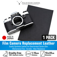 Camera Body Replacement Leather Synthetic 1.15mm Thick [BLACK] Restoration