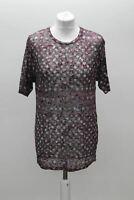 ISABEL MARANT ETOILE Ladies Grey Purple Abstract Print Short Sleeve T-Shirt S