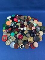 Lot Large Size Buttons Many Materials Celluloid Poss.Bakelite & Colt REDUCED