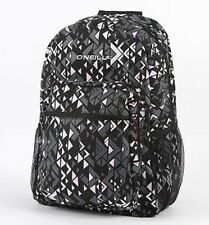 O'Neill Nevada Border Black Geometric Print Backpack Bookbag New NWT