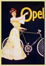 Farb-Plakat: Opel Fahrrad, 1890 (Fahrräder, Velociped)