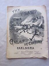 Antique Sheet Music The Flash Galop De Concert Carlmora 1877 FC - GC