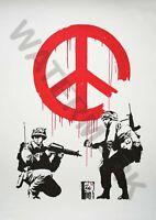 Banksy Street Graffiti Eat Your Lunch Make Trouble HD Vinyl Wall Art Decal
