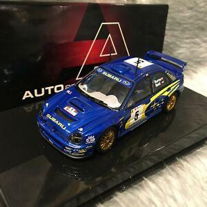 AUTOart 1:43 Subaru Impreza WRC Rally Portugal 2001 Burns Reid 60191