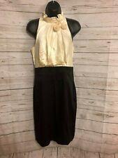 BCBG Max Azria Women's Halter Dress Sleeveless Silk Black / White Size 6