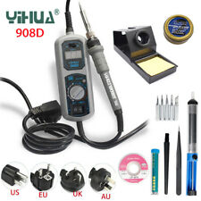 YIHUA 908D Electric Soldering Iron Temperature Adjustable RepairTool Suction Cup