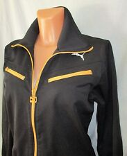 Women's PUMA Black & Yellow Tracksuit Top Casual Jacket sz 14 great con COOL