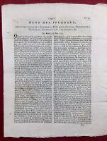 Rivarol 1792 Louis 16 Drôme Mons Belgique Mourgues Duranton Révolution Bastille