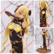 Hentai Anime art sexy naked golden cheongsam Chinese lute girl PVC figure nobox