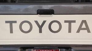"TOYOTA TAILGATE  Vinyl Decal Sticker Emblem Logo Graphic  SILVER 31"""
