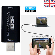 UK 1080P HDMI to USB Video Audio Capture Card Recorder For Game / Live Streaming
