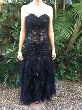 High quality sexy elegant black sequin lace formal dress size 6 - 8