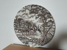 """Myott Staffordshire ROYAL MAIL BROWN Dinner Plate 10"""" GREAT condition"""