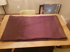 """YVES DELORME SOLID BROWN BEDSPREAD SILK TRIM COTTON QUILT ATHENA KING 102"""" X 97"""""""