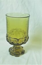 Franciscan MADEIRA  Footed Goblet  AVOCADO GREEN  5.5 In.