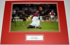 IAN WRIGHT ARSENAL PERSONALLY HAND SIGNED AUTOGRAPH PHOTO MOUNT SOCCER