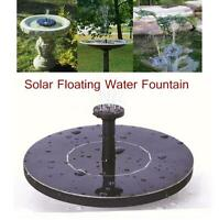 Round Solar Floating Water Fountain High Efficiency For Pool Pond Garden Decor