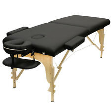Portable Professional Massage Table with Head Cradle and Carrying Case - Black