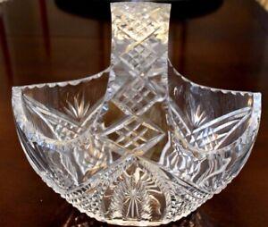 Vintage Galway Crystal Basket - Heavy