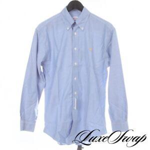 NWT #1 MENSWEAR Brooks Brothers Madison Blue OCBD Oxford Fleece Logo Shirt M