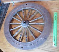 "Spinning Wheel Wooden Yarn loom Vintage Wall Decor Antique primitive 19.5"""