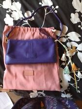 New (never been used) Radley Whitmore small purple bag with soft cover bag