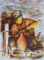 Poulet Raymond: el Alfarero - Litografía Firmada Y Numerada, 450ex