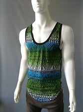 Emily Sharp handmade mens festival vest. Blue green Navajo. L or XL Slim fit