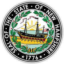 "New Hampshire State Seal Car Bumper Window Locker Vinyl Sticker Decal 4.6""X4.6"""