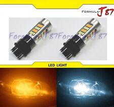 LED Switchback Light 2835 White Amber Orange 4157 Two Bulb Front Signal DRL Lamp