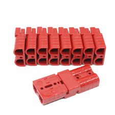 10pcs Battery Quick Connect Disconnect Plug Red 50A 6AWG Winch Connector w/ Pin
