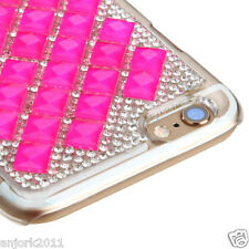 """iPhone 6 (4.7"""") Snap Fit Back Cover 3D Bling Gem Case Hot Pink Diamond"""