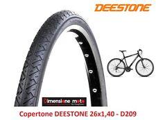 "Copertone DEESTONE 26x1,40 40-559 D209 Nero Slick per bici 26"" MTB Mountain Bike"