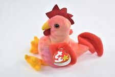 Ty Beanie Baby Strut the Rooster, 1996,PVC, 4th gen- style #4171-RARE-free ship