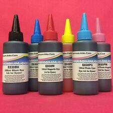 6x Ink Refill Bottle For Epson Stylus Photo R1400 R 1400 1500 W R1500W Printer s