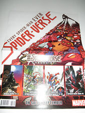 """Spider-Verse Double Side Avengers 10""""x13"""" PROMO POSTER  New!"""