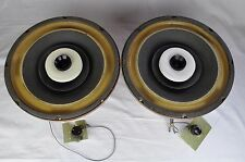 "Rare Vintage Pair Herald Electronics S-801A 12"" Coaxial Speakers 8 Ohms USA Made"