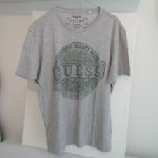 T-shirt Guess distressed logo print short sleeves Size M