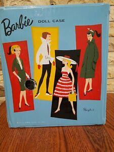 1961 Barbie Ponytail Blue Vinyl Doll Case Mattel