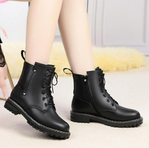 Botas de vaquero para mujer Zapatos de trabajo Botas de agua fría de invierno